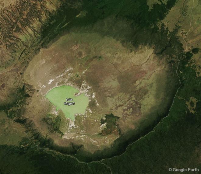 Aufsicht auf den Krater